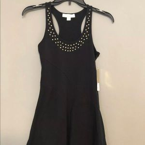 Nicki Minaj Black Dress Stretch Embellished XS NWT